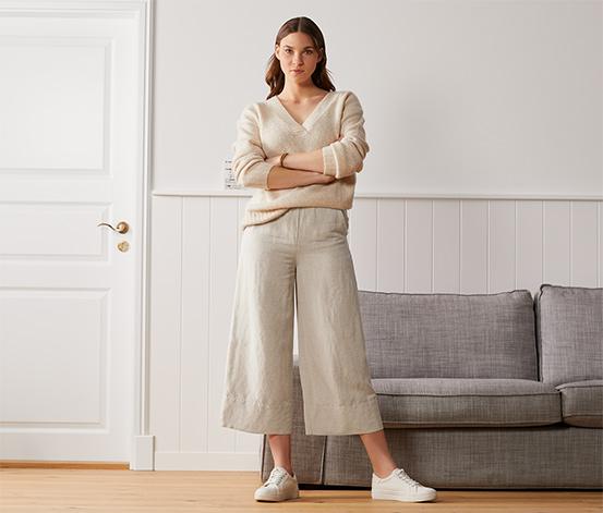 Lněné palácové kalhoty