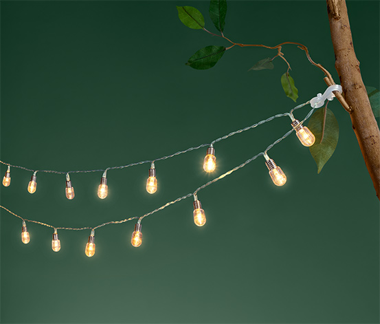 Světelný řetěz s LED a žárovičkami