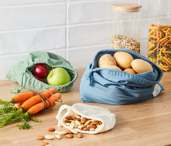 Sáčky na ovoce a zeleninu, 3 ks
