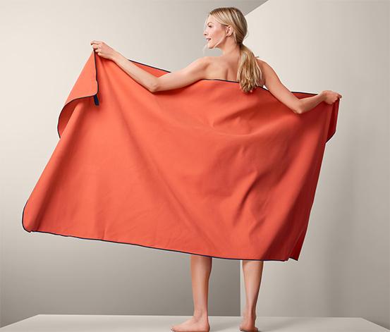 Outdoorová XL osuška, oranžová