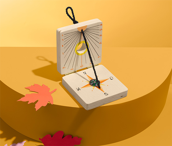 Dětské sluneční hodiny s kompasem