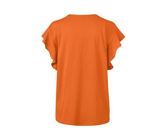 Triko s volánky, oranžové