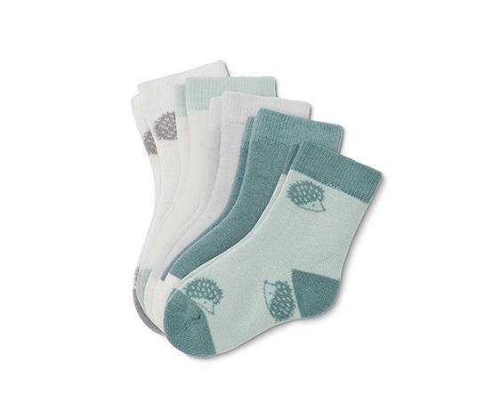 Dětské bavlněné ponožky, 5 párů