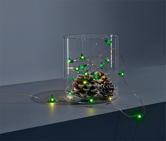 Světelný mikrořetěz s LED Vánoční stromečky