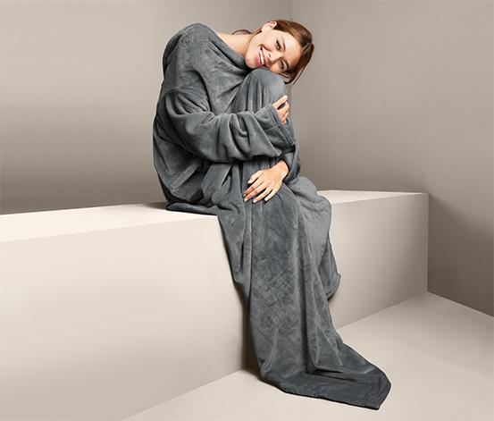 Měkoučká deka s rukávy