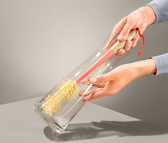 Štětka na sklenice a lahve