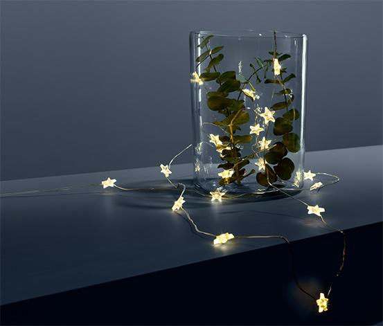 Světelný mikrořetěz s LED Hvězdy