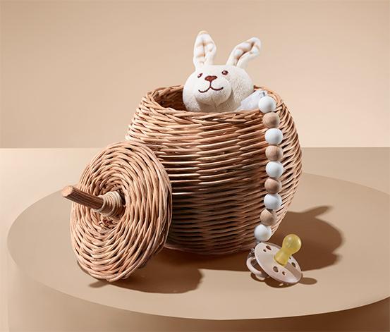 Úložný košík ve tvaru jablka