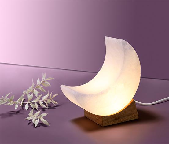 Měsíc ze solného krystalu, s LED