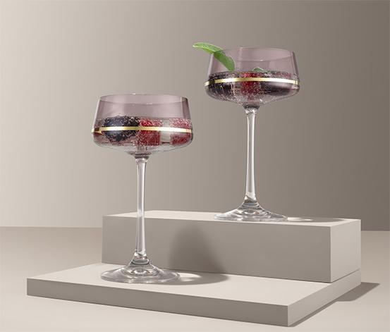 Sklenice na šampaňské a na koktejl