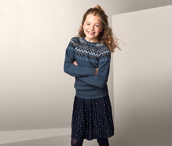 Pletený svetr s norským vzorem