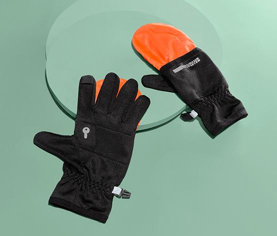 Běžecké rukavice 2 v 1