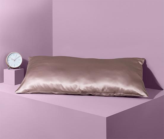 Povlak na polštář z hedvábí a bavlny, cca 40 x 80 cm