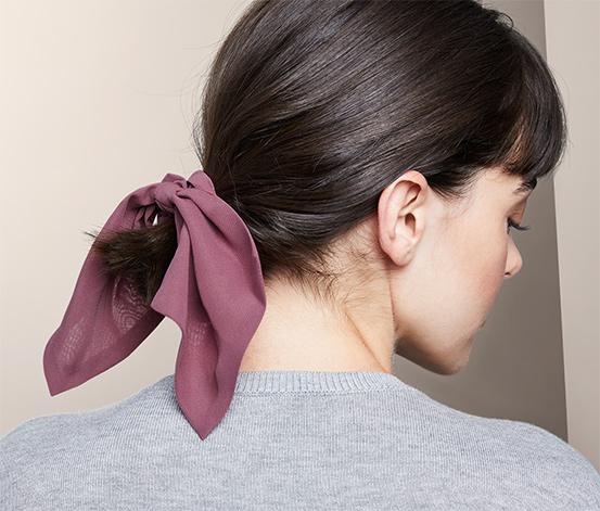 Gumičky do vlasů »Scrunchies« s mašlí, 2 ks