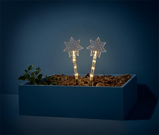 Zahradní zápichy s LED, 2 ks
