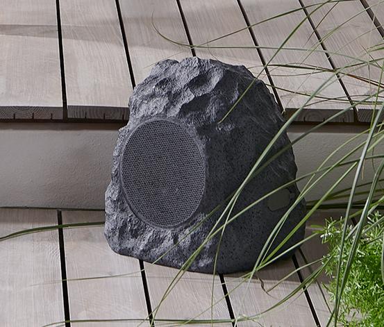 Zahradní reproduktor ve vzhledu kamene s Bluetooth®