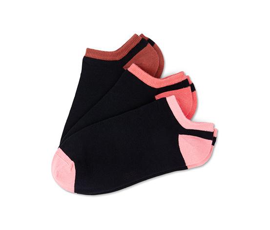 Krátké dámské ponožky, 3 páry