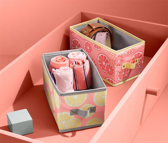 Úložné boxy do zásuvky, 2 ks, střední