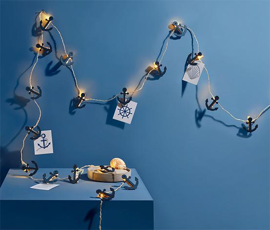 Světelný řetěz s LED Kolíčky s kotvičkami