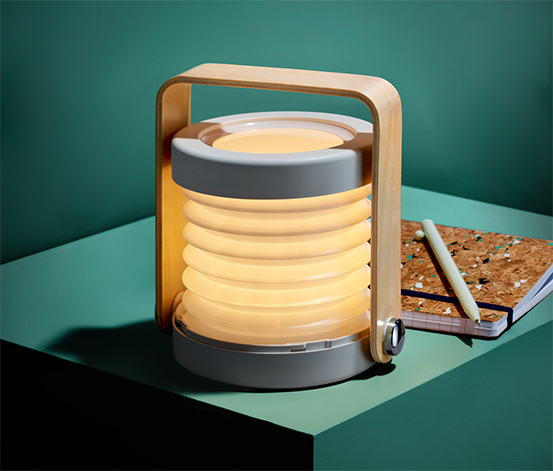 Stolní lampička s LED, skládací