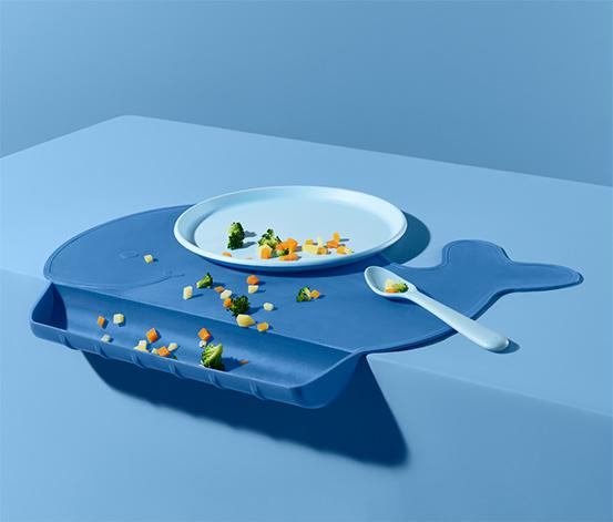 """Silikonová stolní sada """"Velryba"""""""