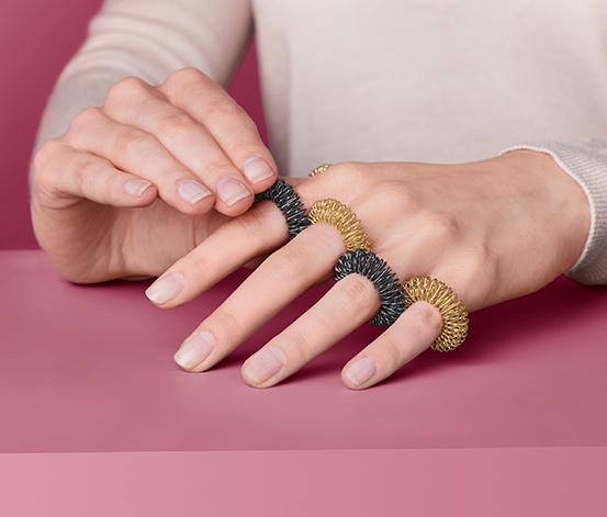 Masážní kroužky na prsty