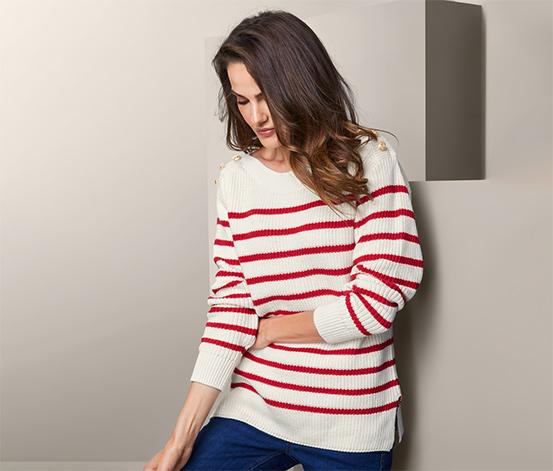 Pletený svetr s knoflíky