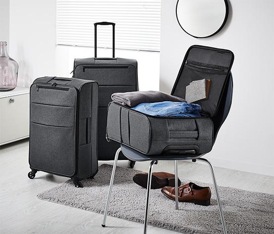Lehký textilní kufr