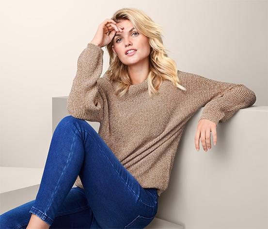 Pletený svetr s melírovaným efektem