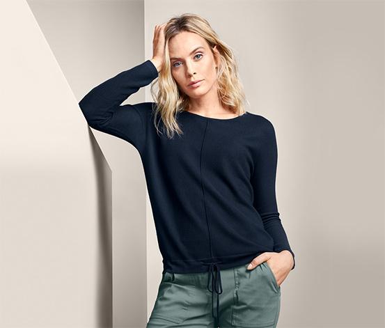 Pletený svetr s tunýlkovým stahováním