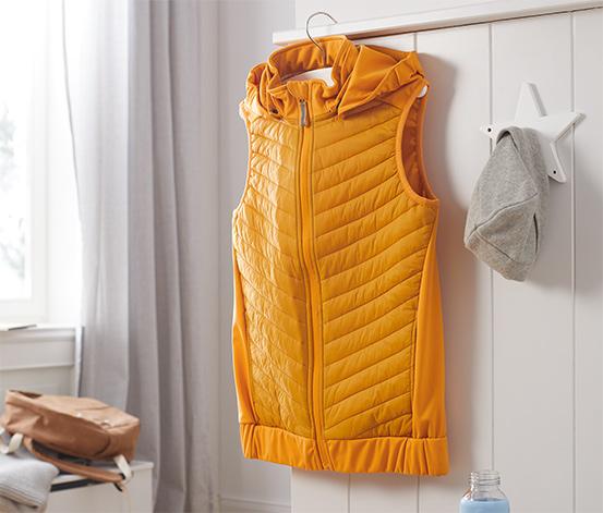Hybridní softshellová vesta z recyklovaného materiálu
