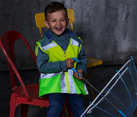 Dětská signální vesta, žluto-zelená
