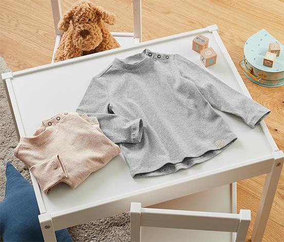 Dětská trička ze žebrované pleteniny, 2 ks