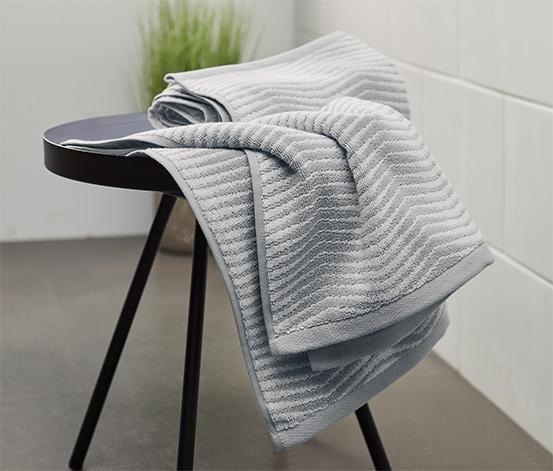 Žakárové ručníky, 2 ks, šedé