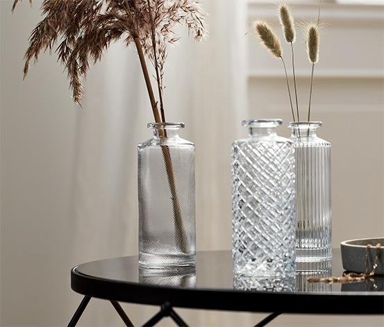 Sada skleněných dekoračních lahviček