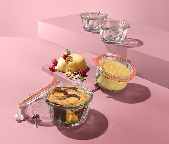Zavařovací sklenice na dezerty, 4 ks