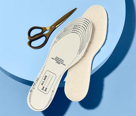 Vložky do bot z jehněčí vlny, 2 páry