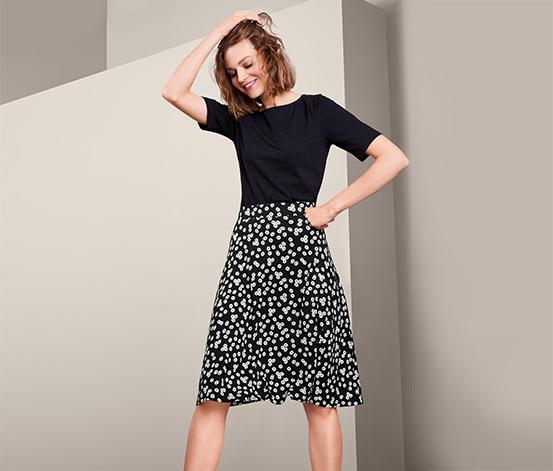 Žerzejová sukně s kopretinovým vzorem