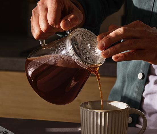 Skleněná konvice na kávu