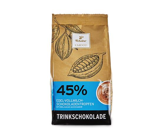 Nápoj z čokolády z plnotučného mléka (kakao: min. 45 %)