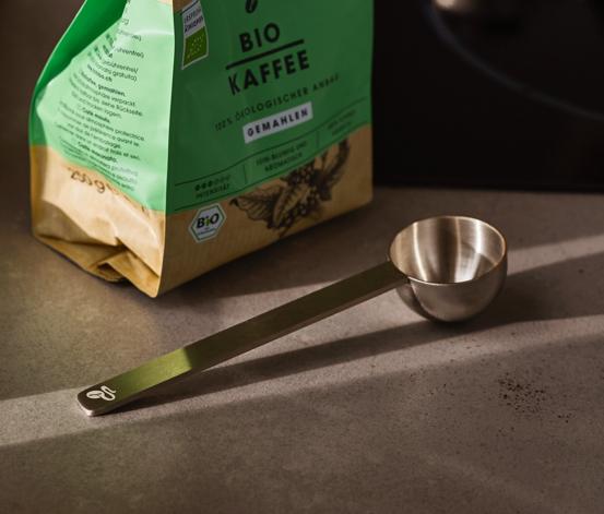 Odměrka na kávu, stříbrná